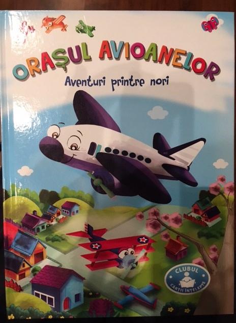 """Cartea """"Orasul Avioanelor"""" coperta fata"""